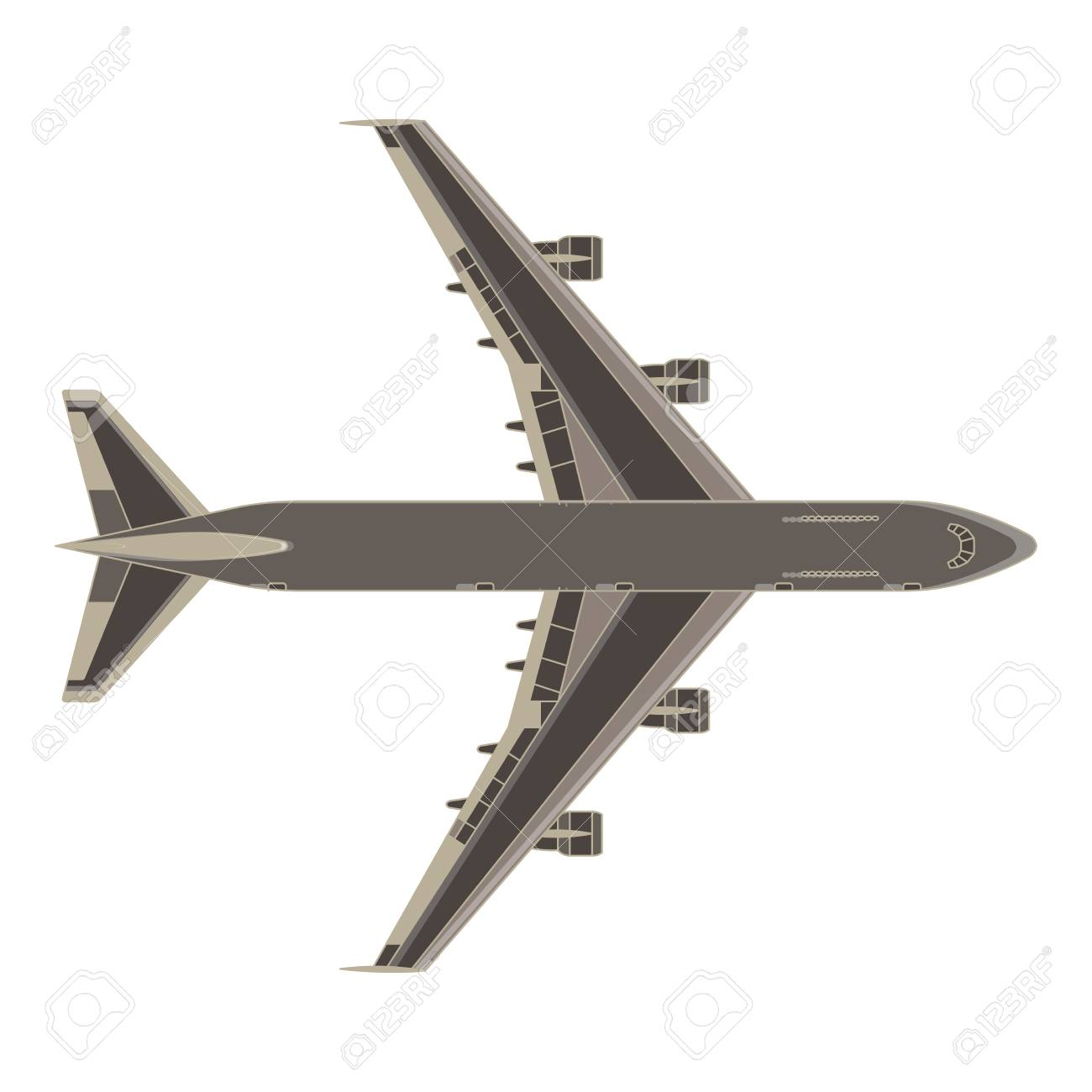 aircraft airplane vector plane icon isolated color air airliner