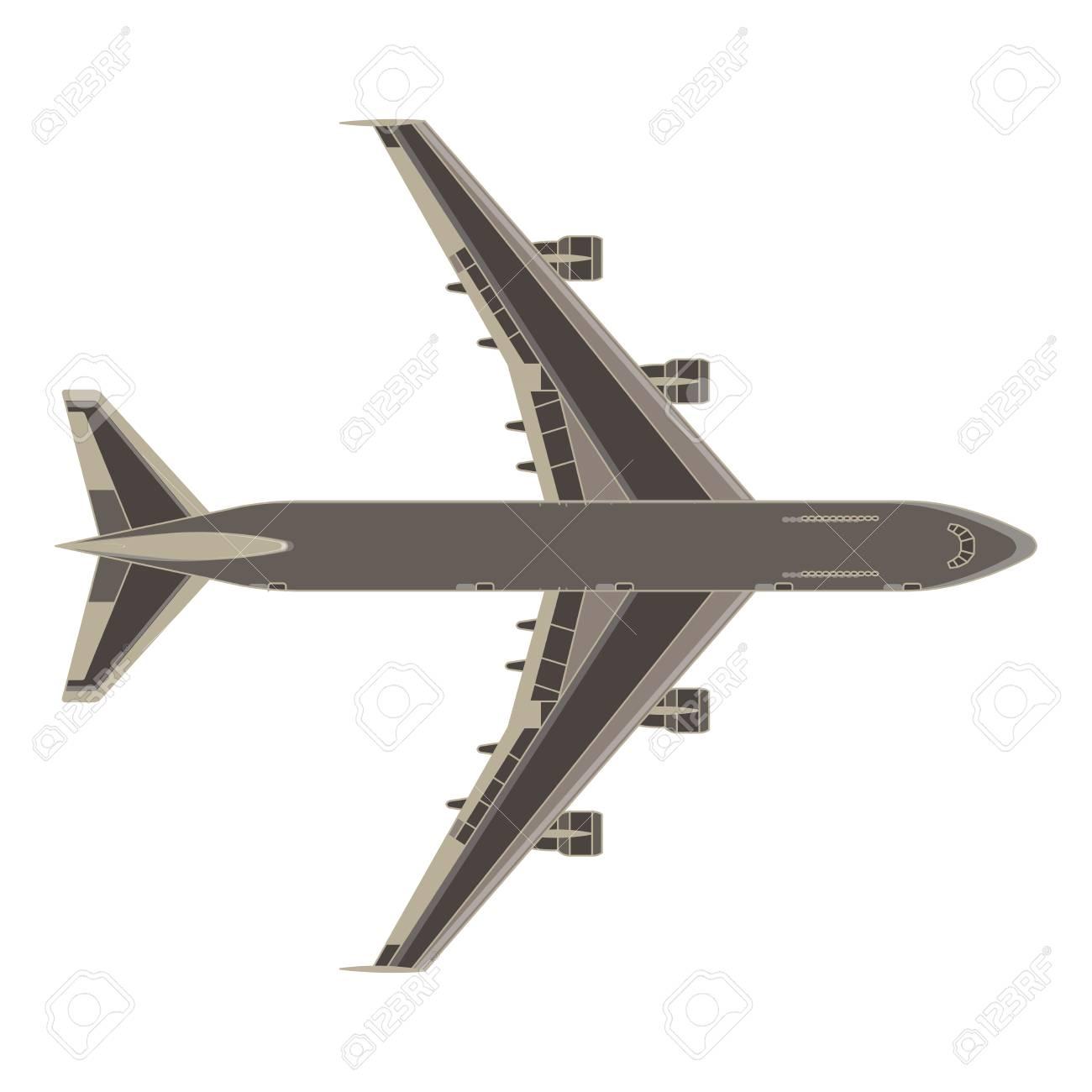 Avión Avión Vector Plano Icono Aislado Color Aire Avión Mosca Diseño ...