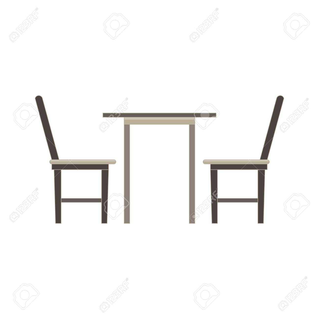 Super Vector Table Chair Two Flat Icon Isolated Restaurant Furniture Cjindustries Chair Design For Home Cjindustriesco