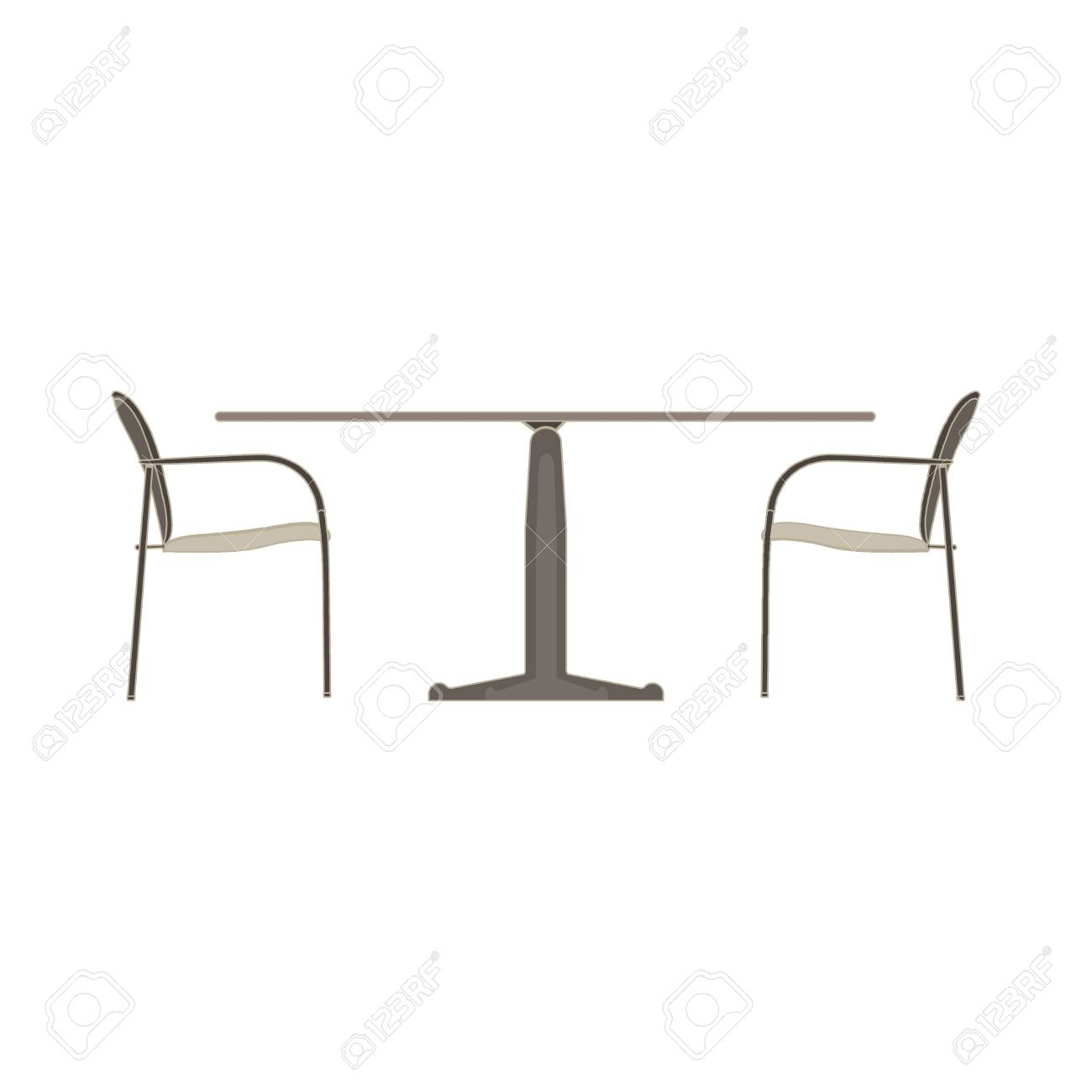 Picture of: Vector Table Chair Two Flat Icon Isolated Restaurant Furniture Royalty Free Cliparts Vectors And Stock Illustration Image 85494316