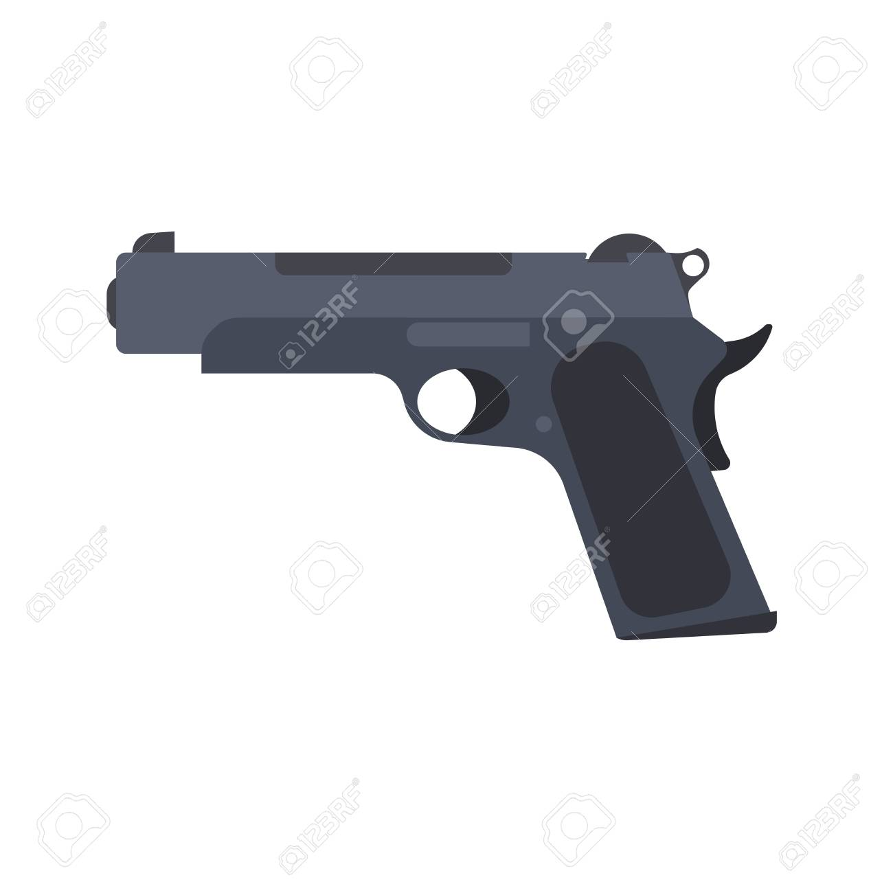 pistol gun vector revolver isolated handgun illustration weapon royalty free cliparts vectors and stock illustration image 92805400 pistol gun vector revolver isolated handgun illustration weapon