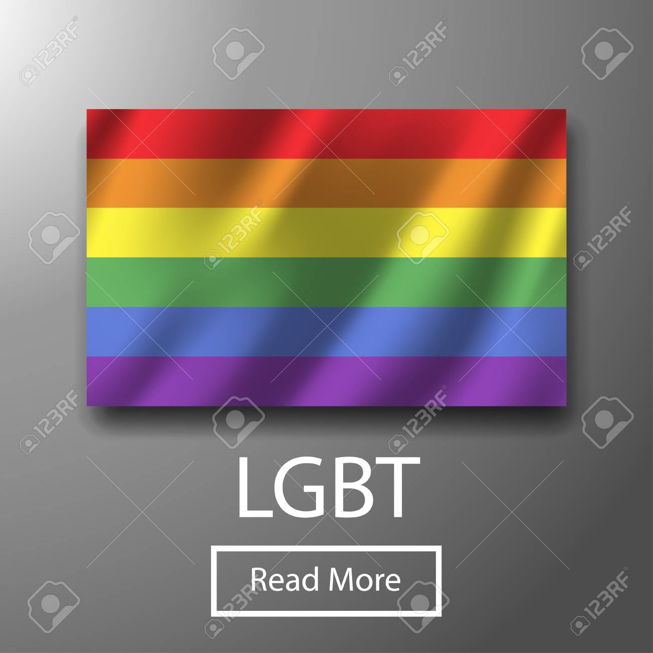LGBT bisexual freedom colorful flag. Gay homosexuality rainbow isolated  pride. Bright tolerance peace celebrate