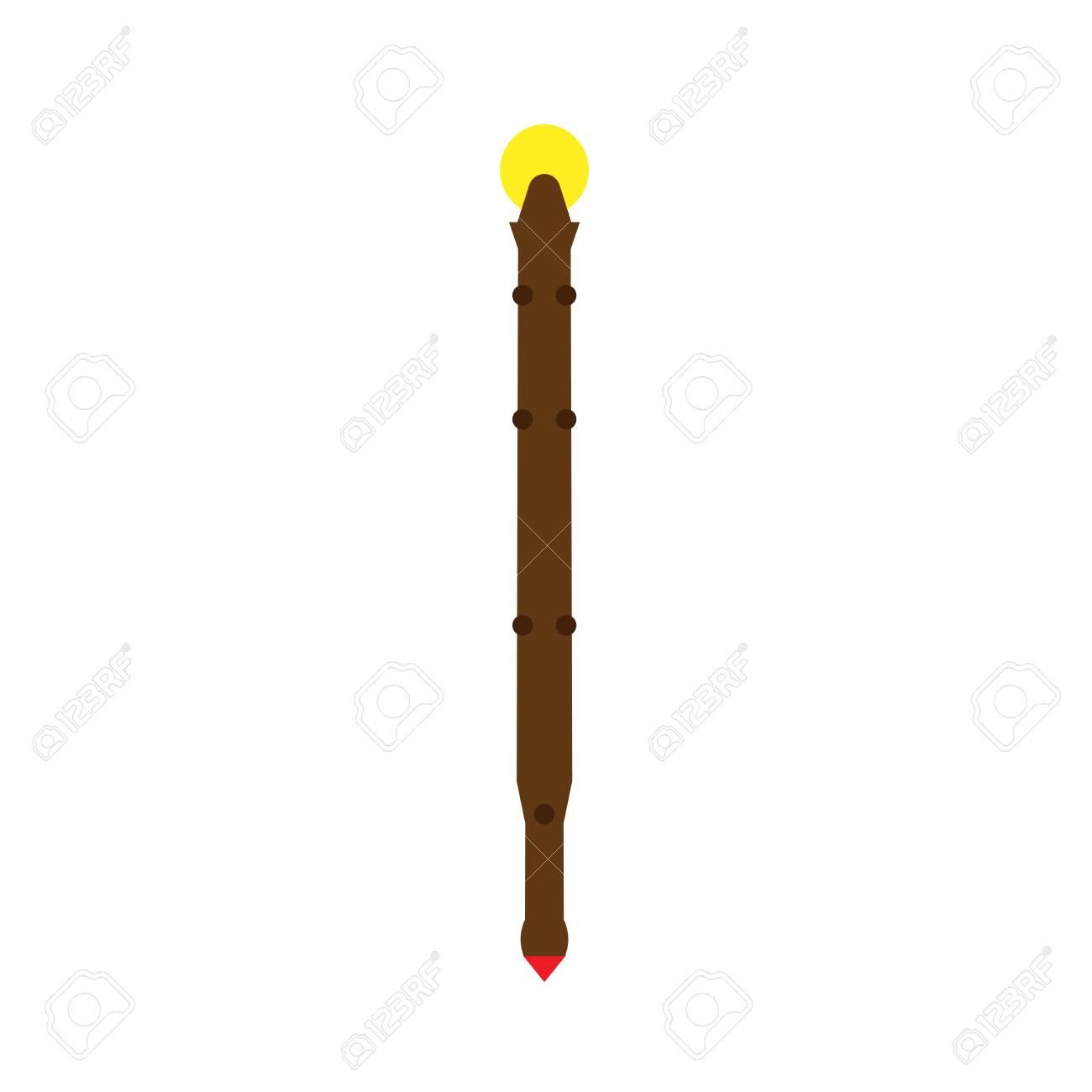 Staff stick illustration design graphic art equipment vector