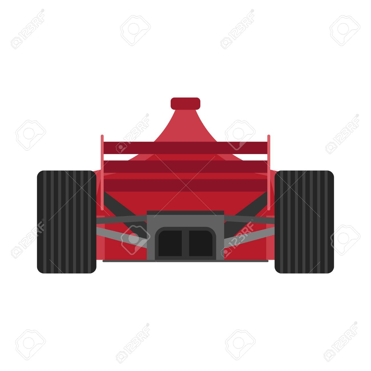 Formula 1 Red Racing Car Back View Vector Icon Championship Royalty Free Cliparts Vectors And Stock Illustration Image 121849918