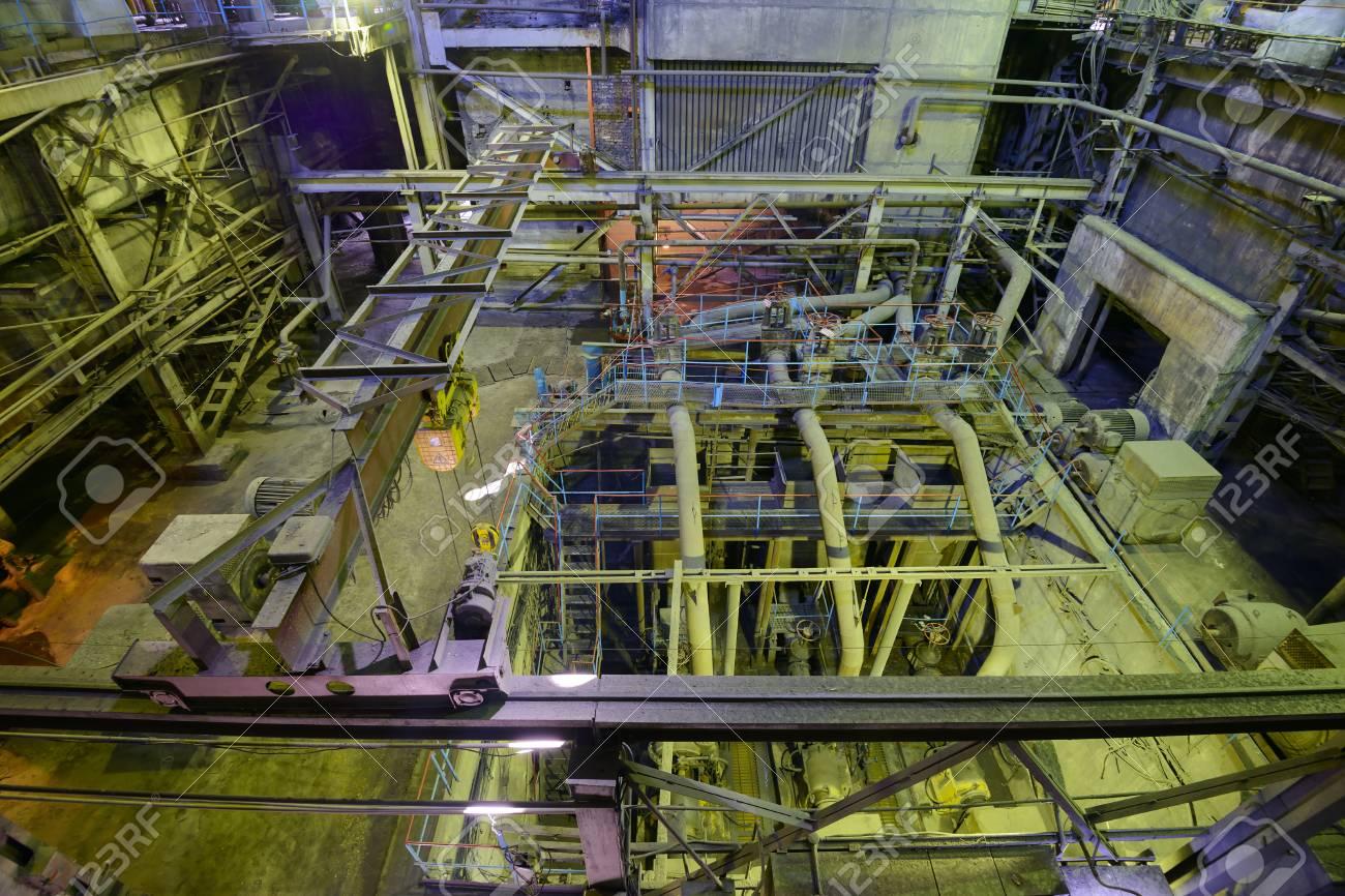 Industrieller Kessel Im Wärmekraftwerk. Lizenzfreie Fotos, Bilder ...