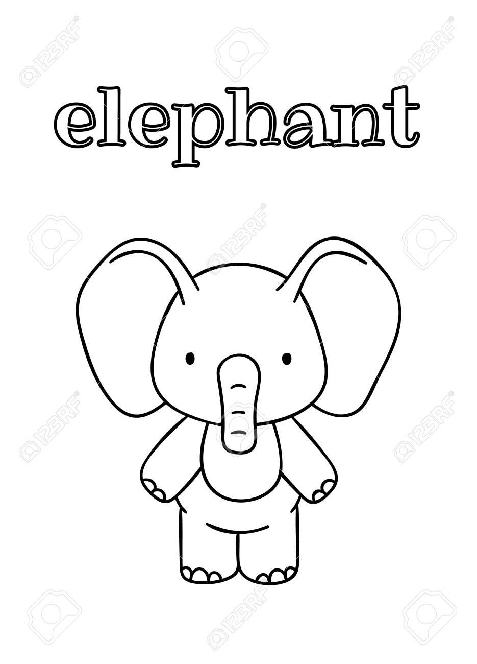 Cute Elephant Preschool Coloring Pages – coloring.rocks! | 1300x935