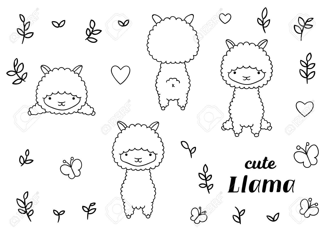 Llama shape with patterns - Llamas Adult Coloring Pages | 935x1300