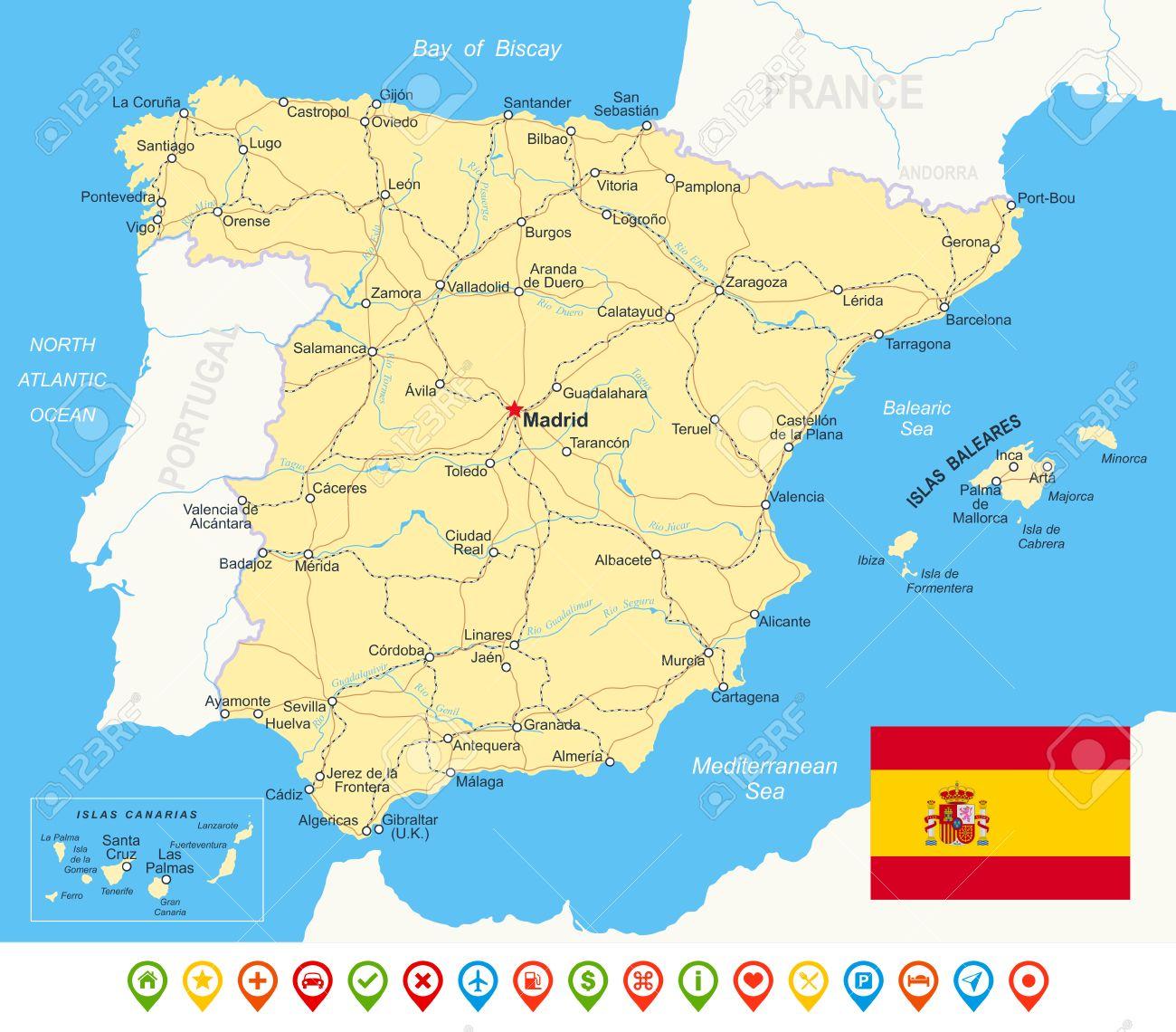 Spanische Karte.Stock Photo