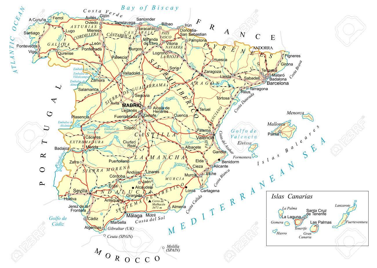 Salamanca Spanien Karte.Stock Photo