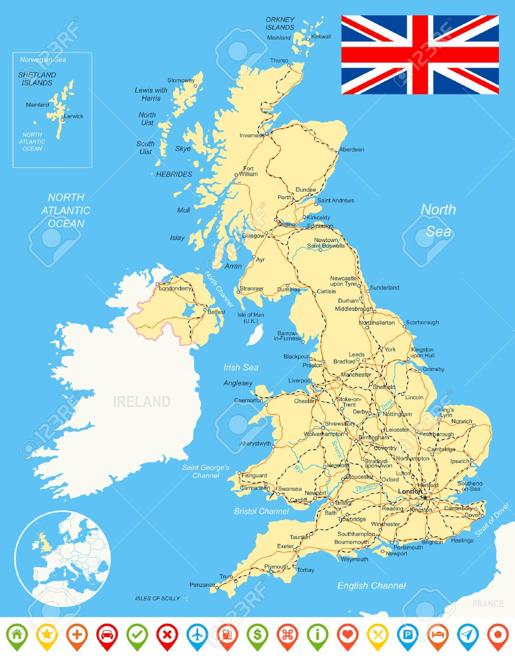 Uk Map Cliparts Stock Vector And Royalty Free Uk Map - Map of great britain