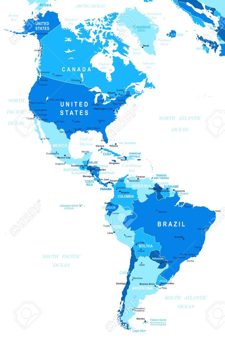 Mapa De America Imágenes De Archivo Vectores Mapa De America - Mapa de united states