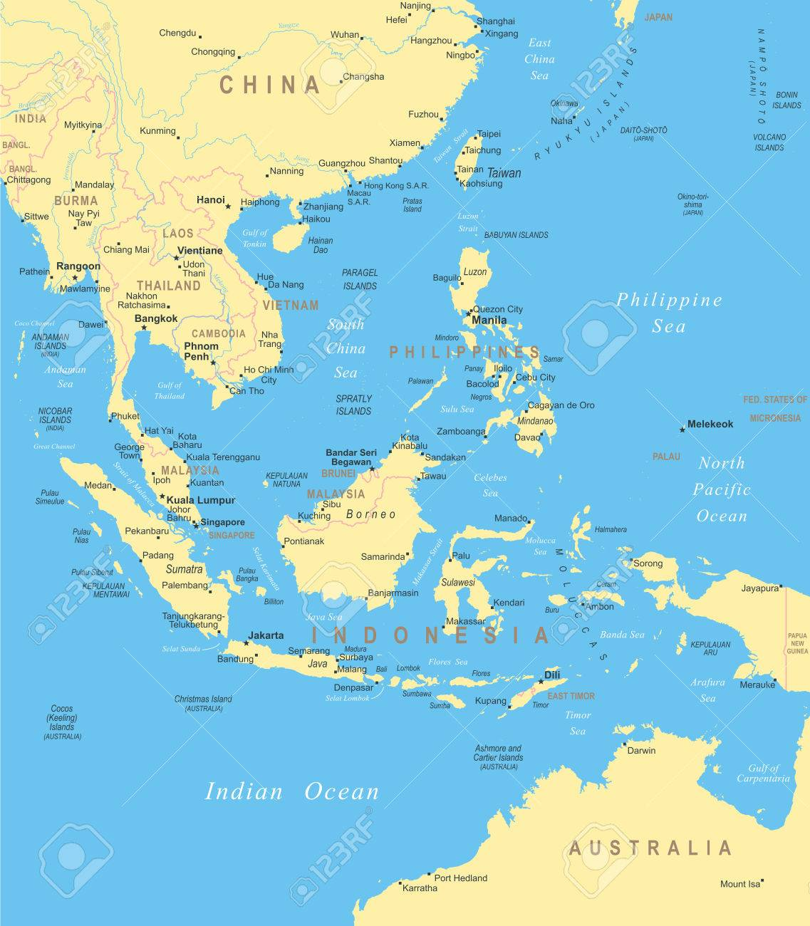 Southeast asia map illustration royalty free cliparts southeast asia map illustration stock vector 49360573 publicscrutiny Gallery
