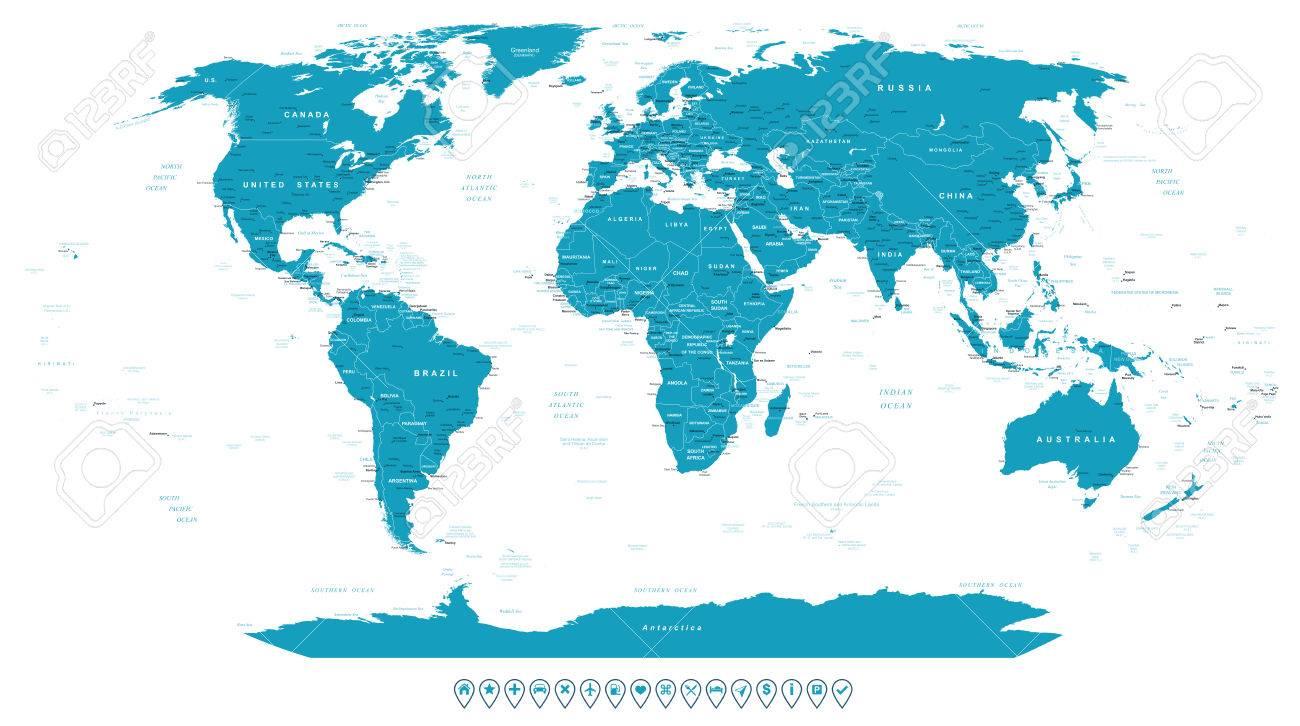 World map and navigation icons illustration royalty free cliparts world map and navigation icons illustration stock vector 51046486 gumiabroncs Choice Image