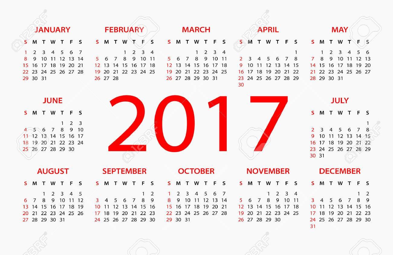 2017 カレンダー イラスト