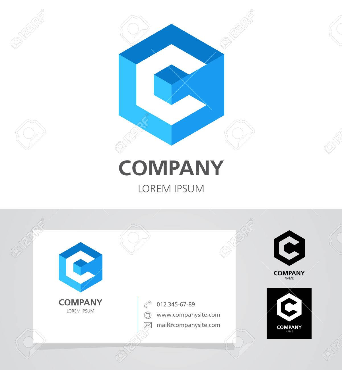 Letter c logo design element with business card illustration letter c logo design element with business card illustration stock vector 61826095 colourmoves