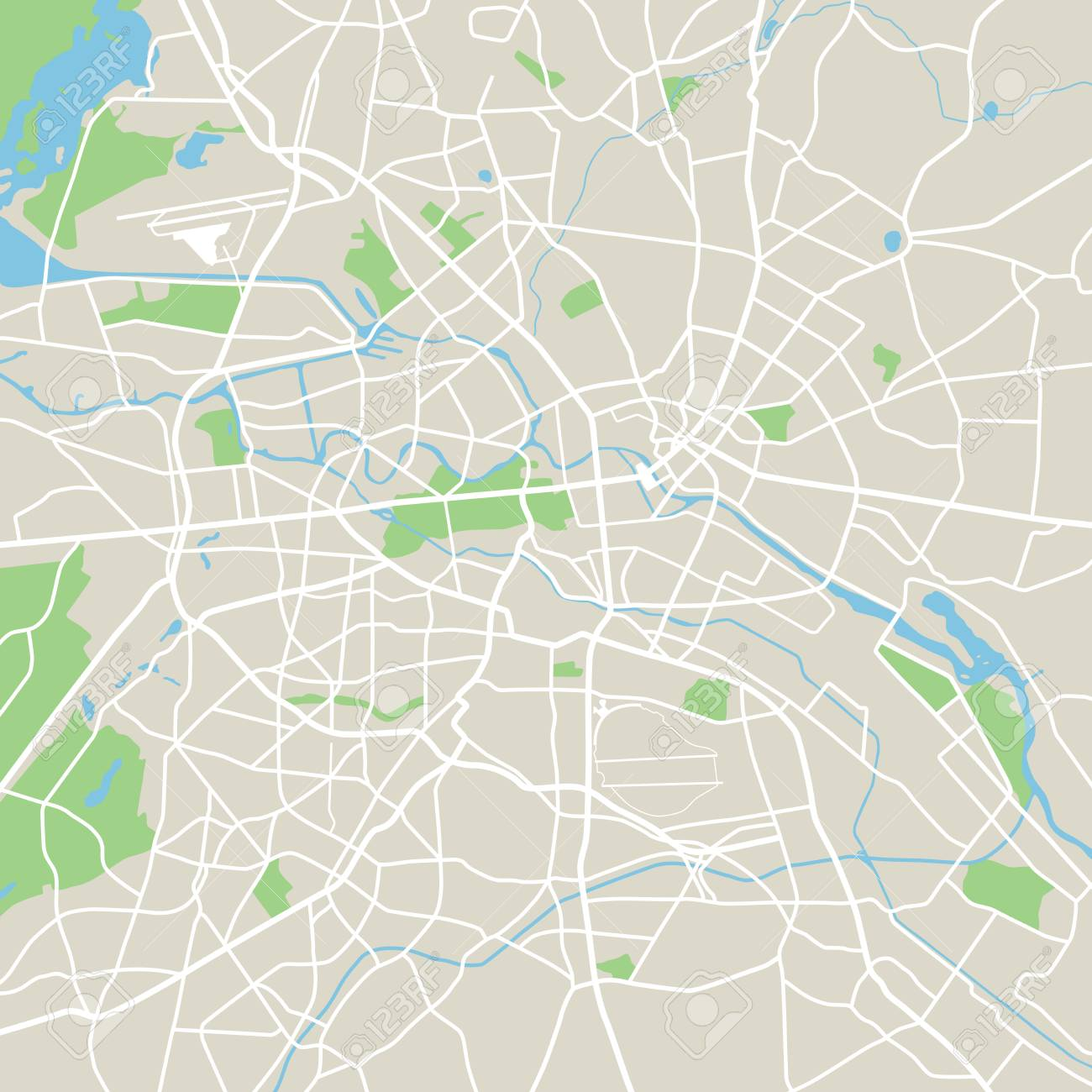 Abstract city map - Illustration - 63634990