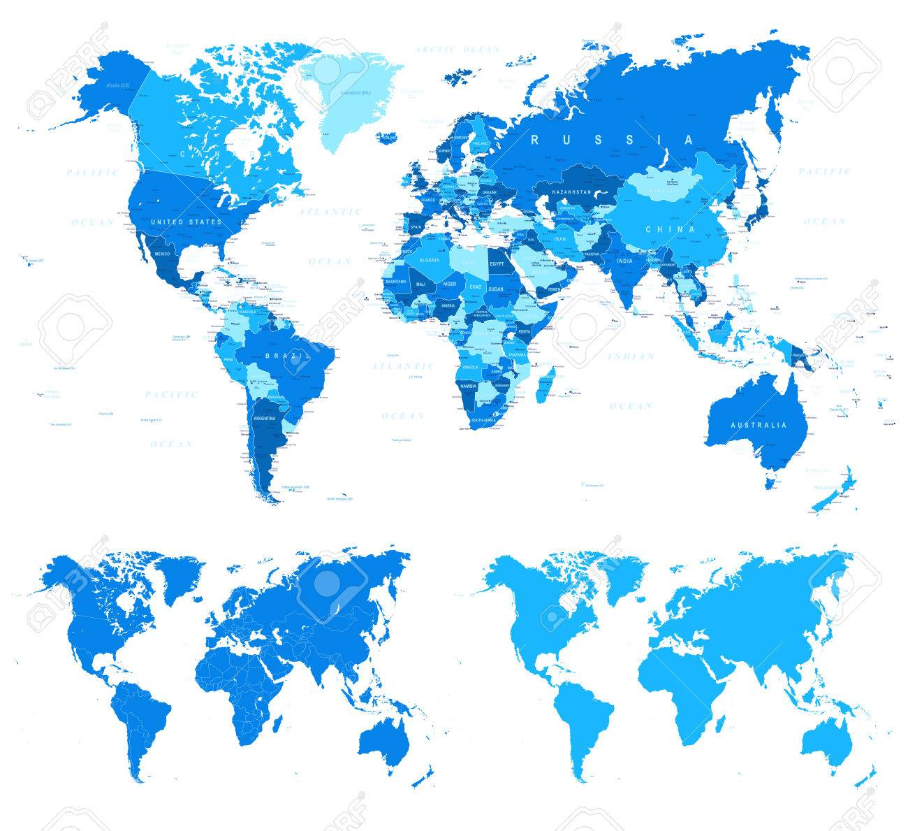 Blue world map borders countries and cities illustration blue world map borders countries and cities illustration foto de archivo 61834200 gumiabroncs Image collections