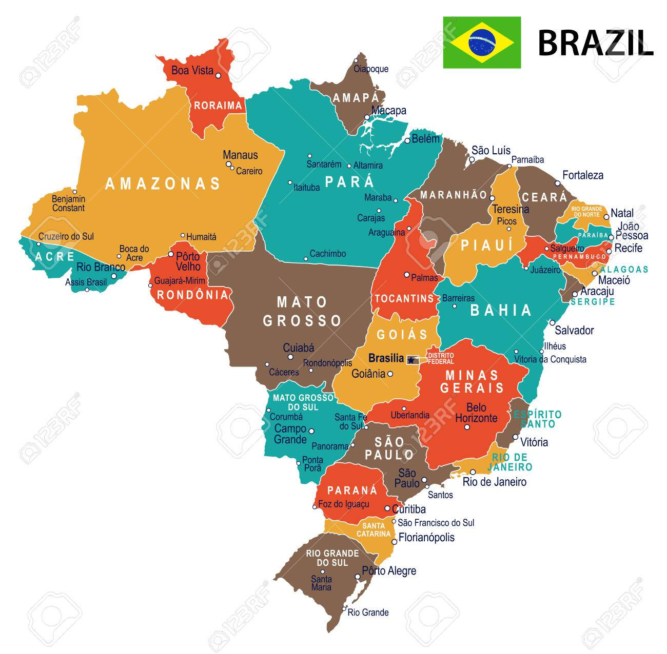 where is recife brazil on map
