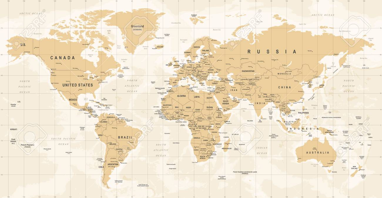 World map vintage vector high detailed illustration of worldmap vector world map vintage vector high detailed illustration of worldmap gumiabroncs Images