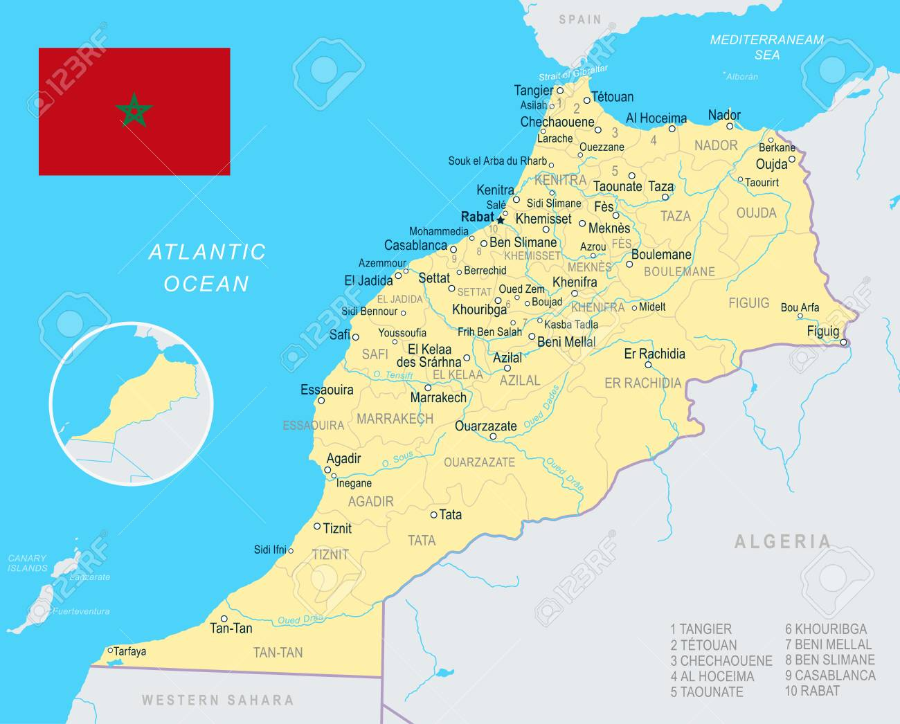 Morocco map and flag - vector illustration on saudi arabia map, angola map, ghana map, egypt map, europe map, sierra leone map, algeria map, mali map, mexico map, malawi map, cameroon map, mauritania map, liberia map, senegal map, moldova map, chad map, italy map, nigeria map, brazil map, japan map, spain map, kenya map, india map, iraq map, rwanda map, lesotho map, israel map, south africa map, eritrea map, mauritius map, namibia map, tunisia map, mozambique map, poland map, libya map, france map, western hemisphere map, niger map,