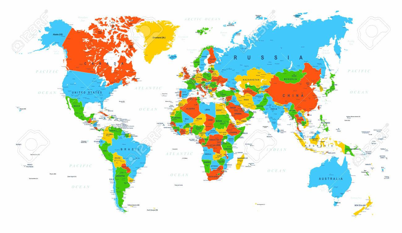 World map political red blue green vector illustration royalty world map political red blue green vector illustration stock vector 84577024 gumiabroncs Image collections