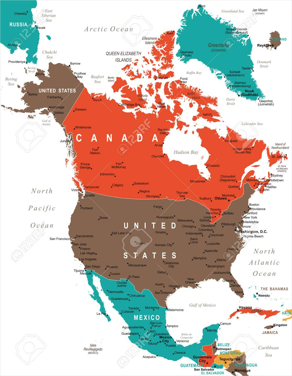 North America Map - Detailed Vector Illustration on road map north america, physical atlas of north america, large map north america, detailed map north carolina, information north america, google maps north america, satellite map north america, current map north america, artistic map north america, history north america, detailed map central america, driving directions north america, places in north america, airports north america, interactive map north america, detailed map latin america, detailed map north dakota, city north america, blank physical map north america, outline map north america,
