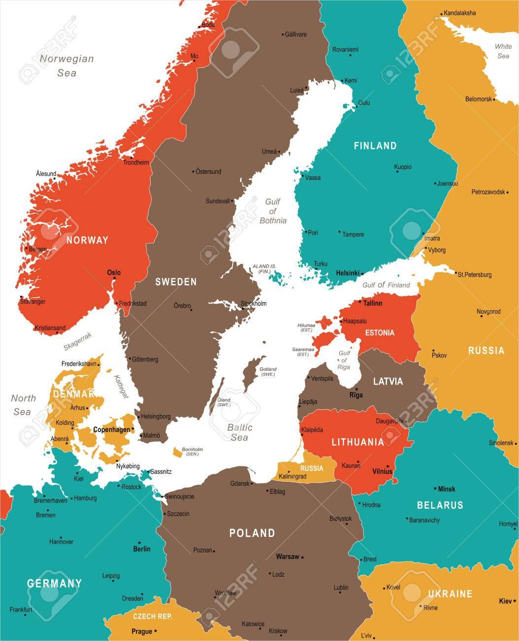 Mar Baltico Mapa Fisico.Mar Baltico Mapa Detraiteurvannederland