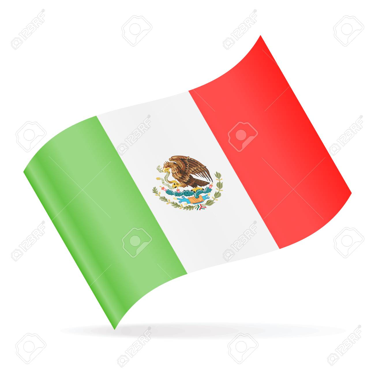 mexico flag vector waving icon illustration royalty free cliparts rh 123rf com