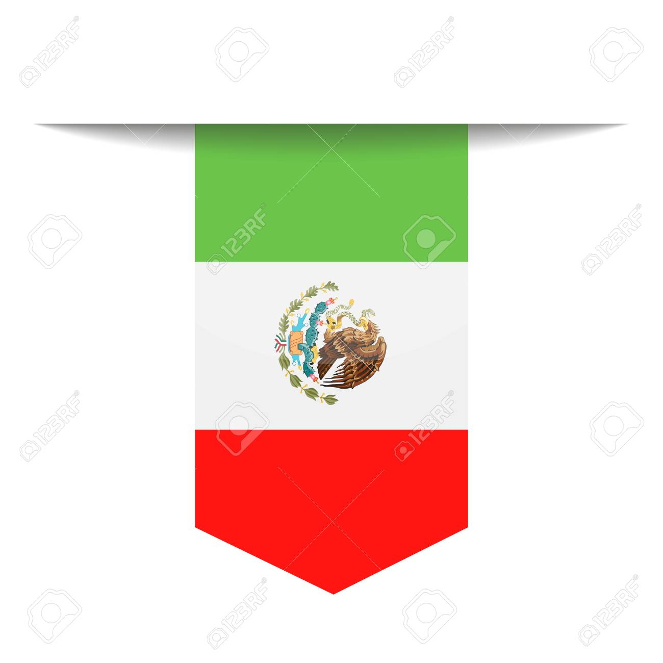 mexico flag vector bookmark icon illustration royalty free rh 123rf com mexican flag vector mexican flag vector free