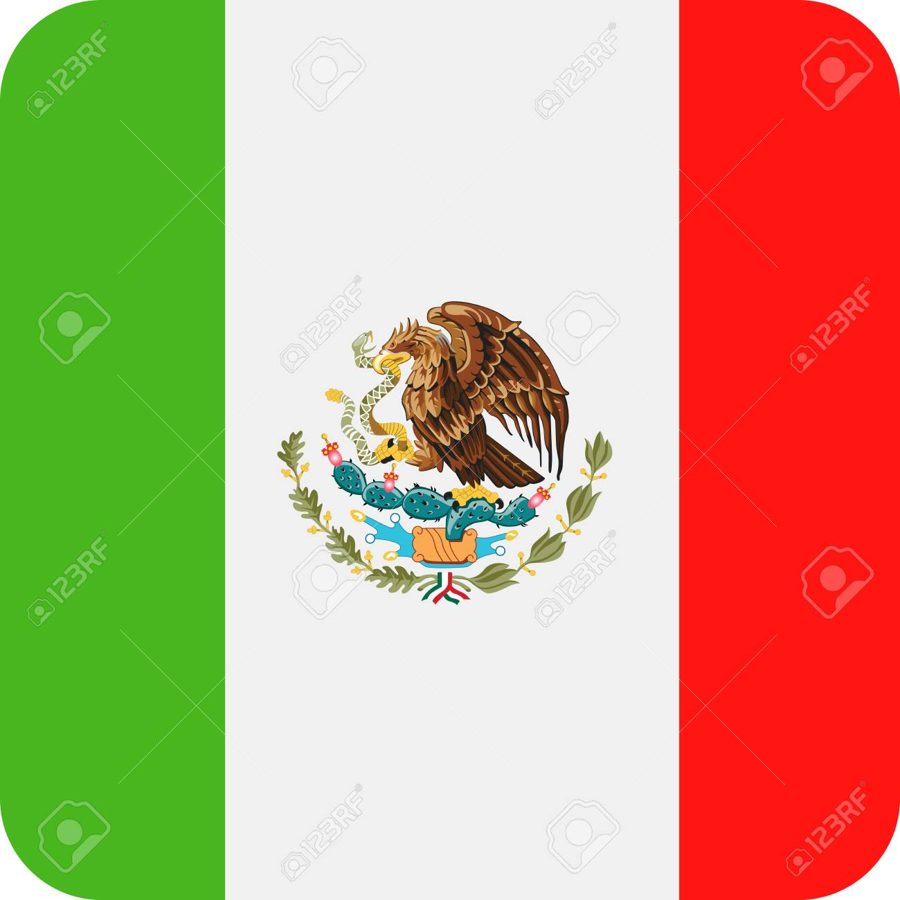mexico flag vector square flat icon illustration royalty free rh 123rf com mexican flag vector art free vector mexican flag