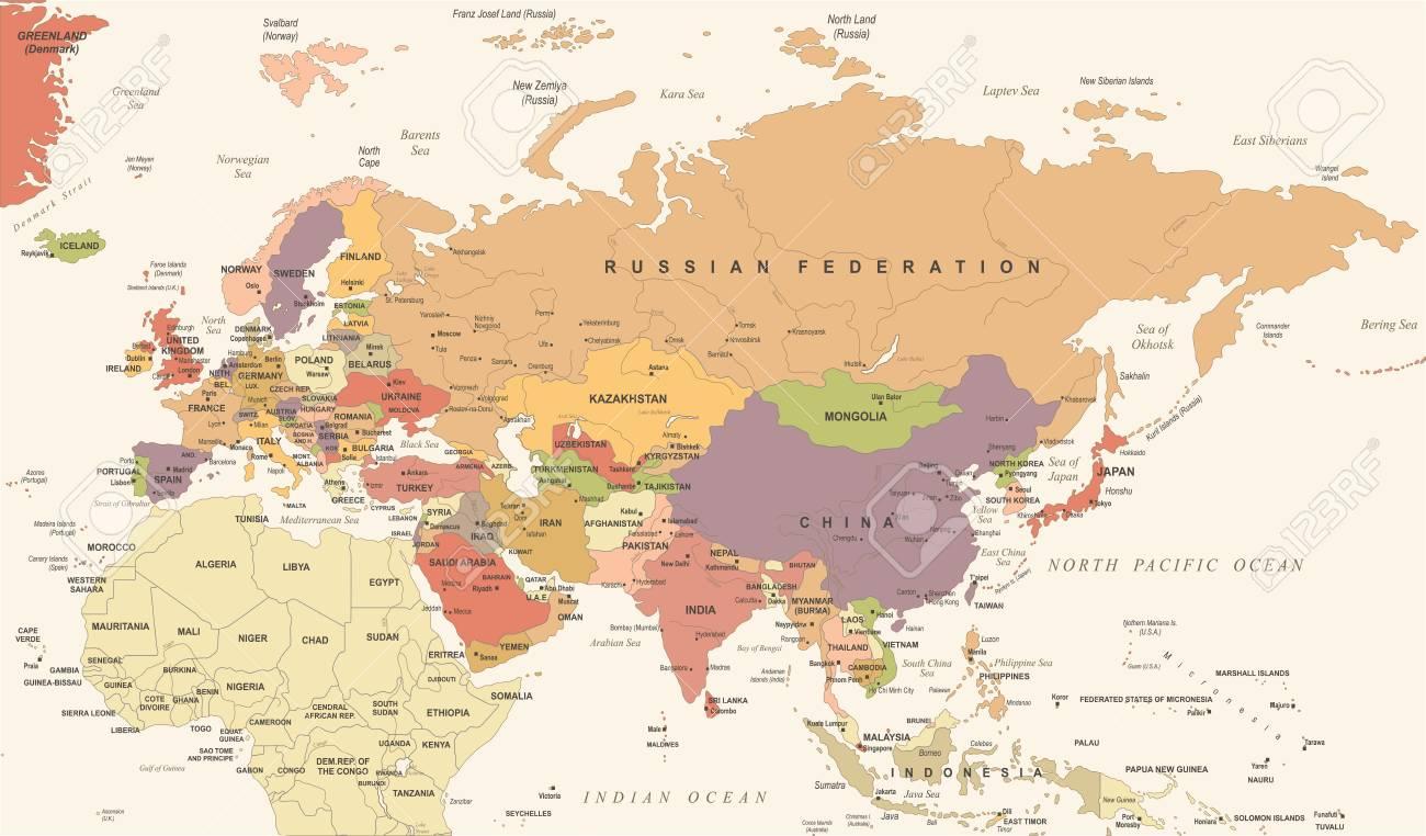 Eurasia europa rusia china india indonesia tailandia mapa eurasia europa rusia china india indonesia tailandia mapa ilustracin vectorial detallada foto de archivo gumiabroncs Gallery