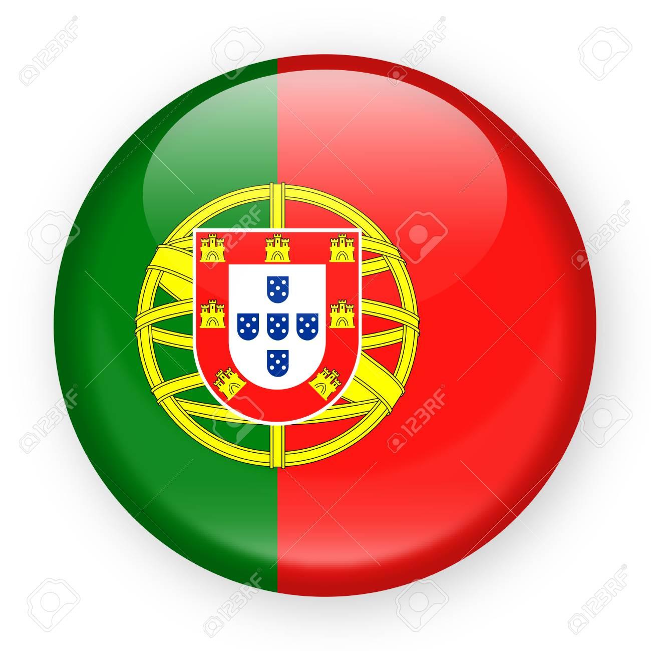 Portugal Flag Vector Round Icon - Illustration - 88591267
