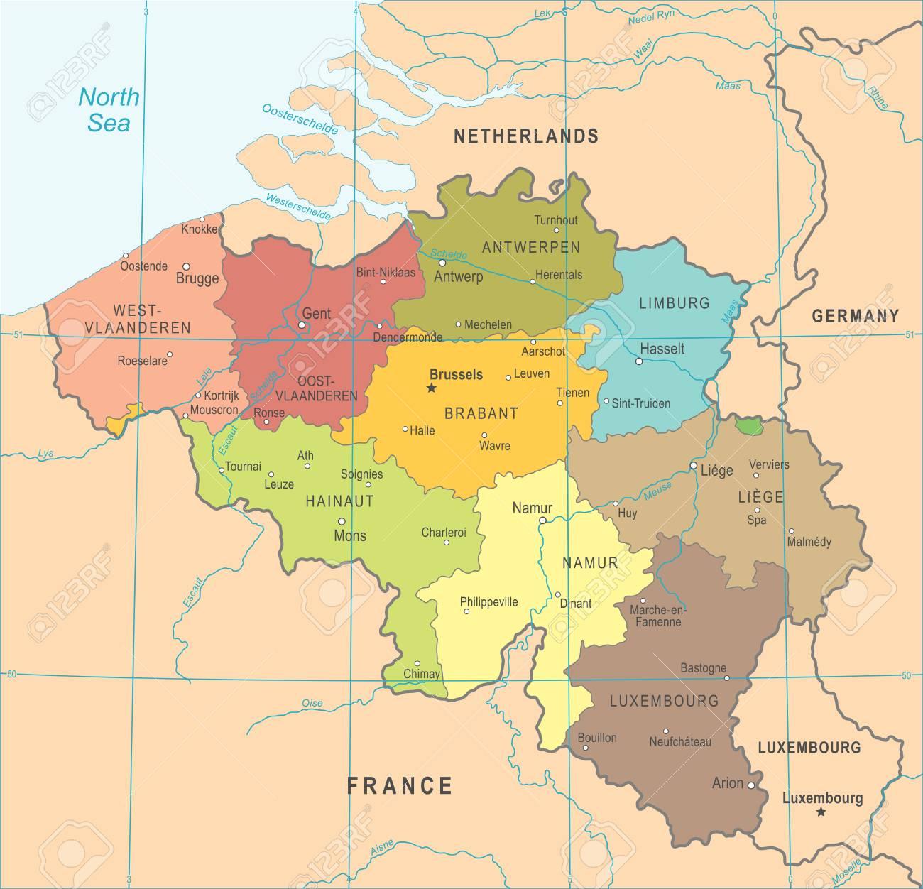 Carte Belgique Eps.Belgique Carte Detaillee