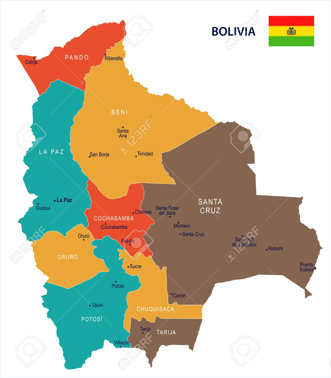 Bolivia map and flag - High Detailed Vector Illustration. on peru map, colombia map, antigua map, croatia map, algeria map, eritrea map, americas map, angola map, la paz map, mexico map, cameroon map, tahiti map, argentina map, buenos aires map, czech republic map, bosnia map, uae map, canada map, ecuador map, cuba map, brazil map, aruba map, egypt map, el salvador map, oman map, world map, chile map, japan map, andes mountains map, austria map, benin map, trinidad map, china map, spain map, bulgaria map,