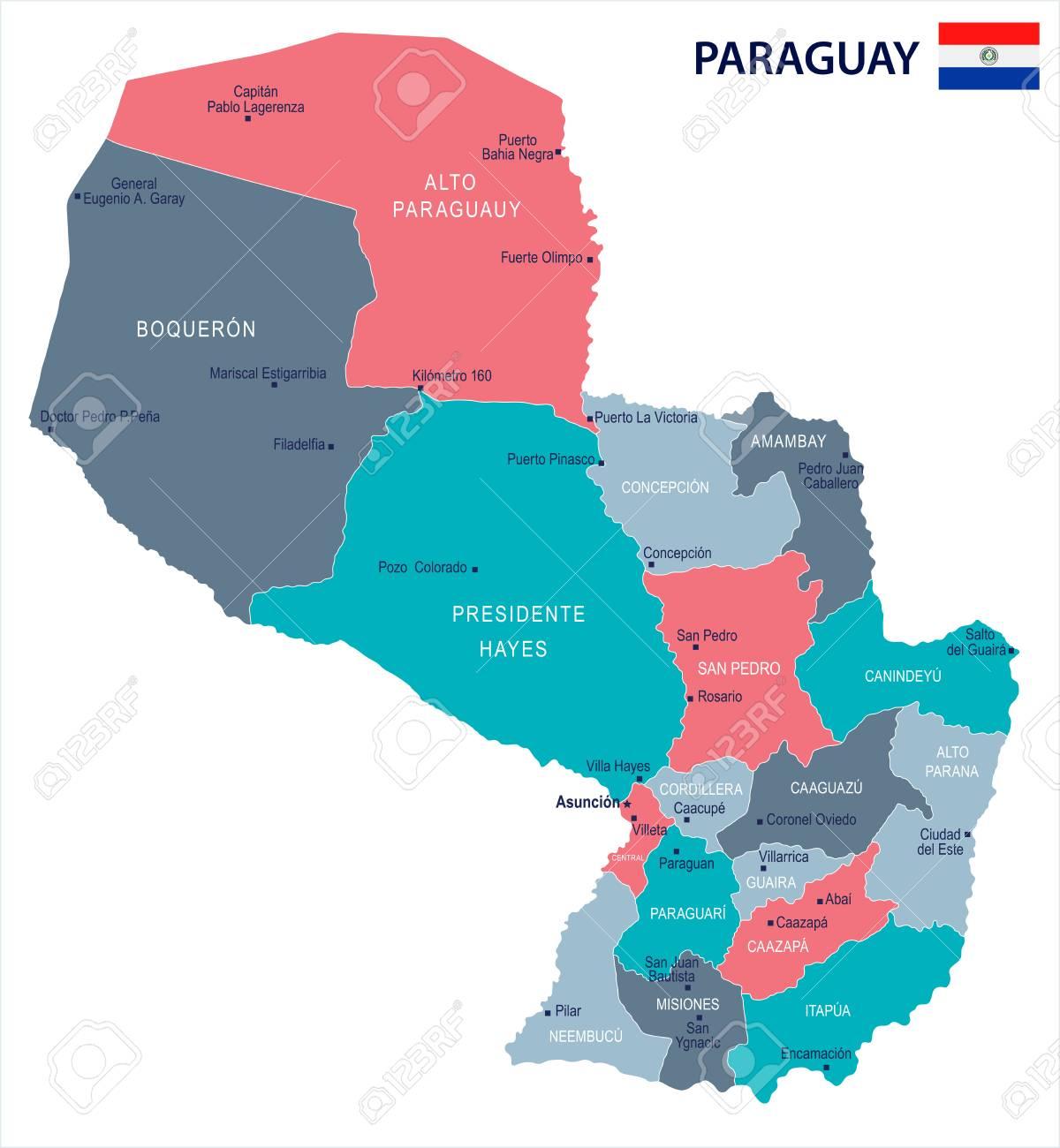 Bildergebnis für paraguay map
