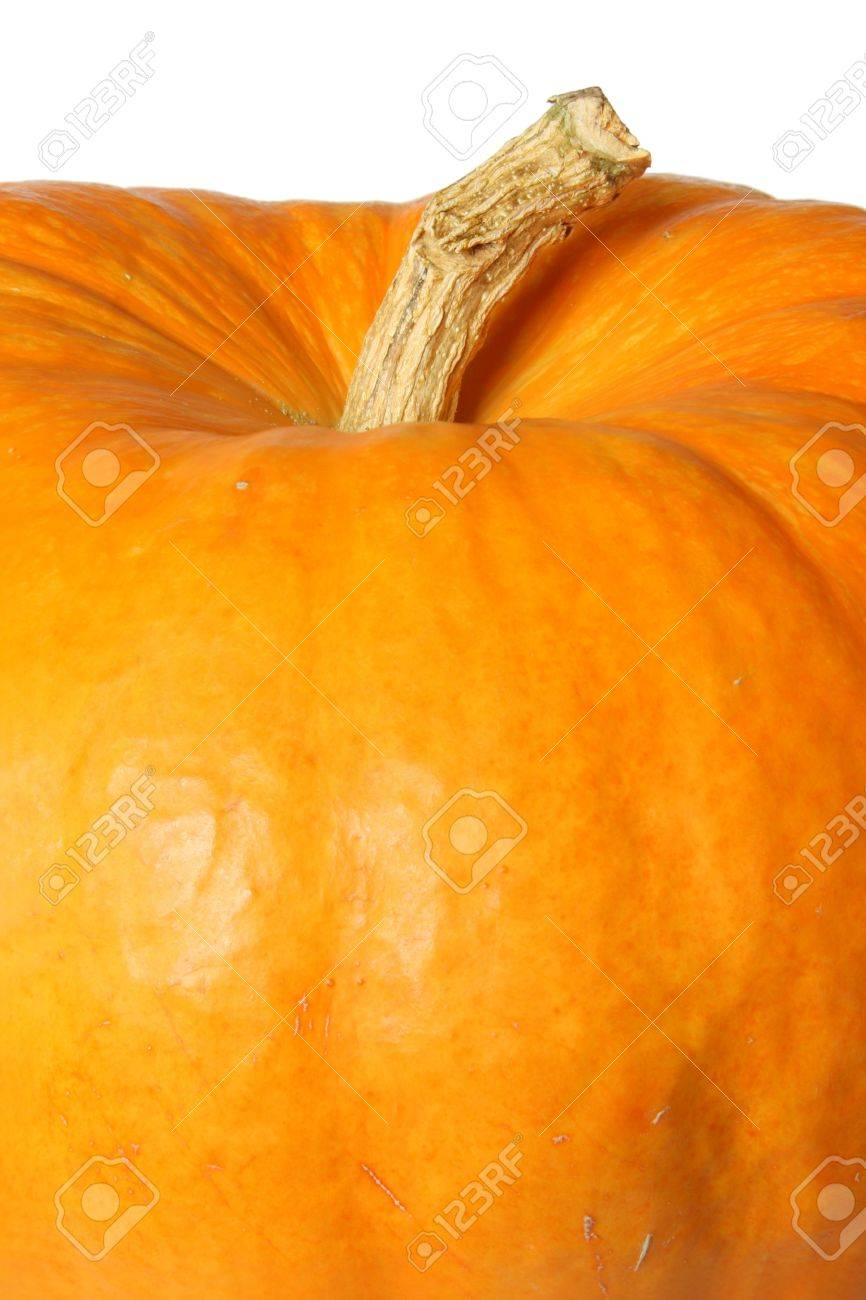 Ripe orange organic pumpkin. Isolated on white - 7795287
