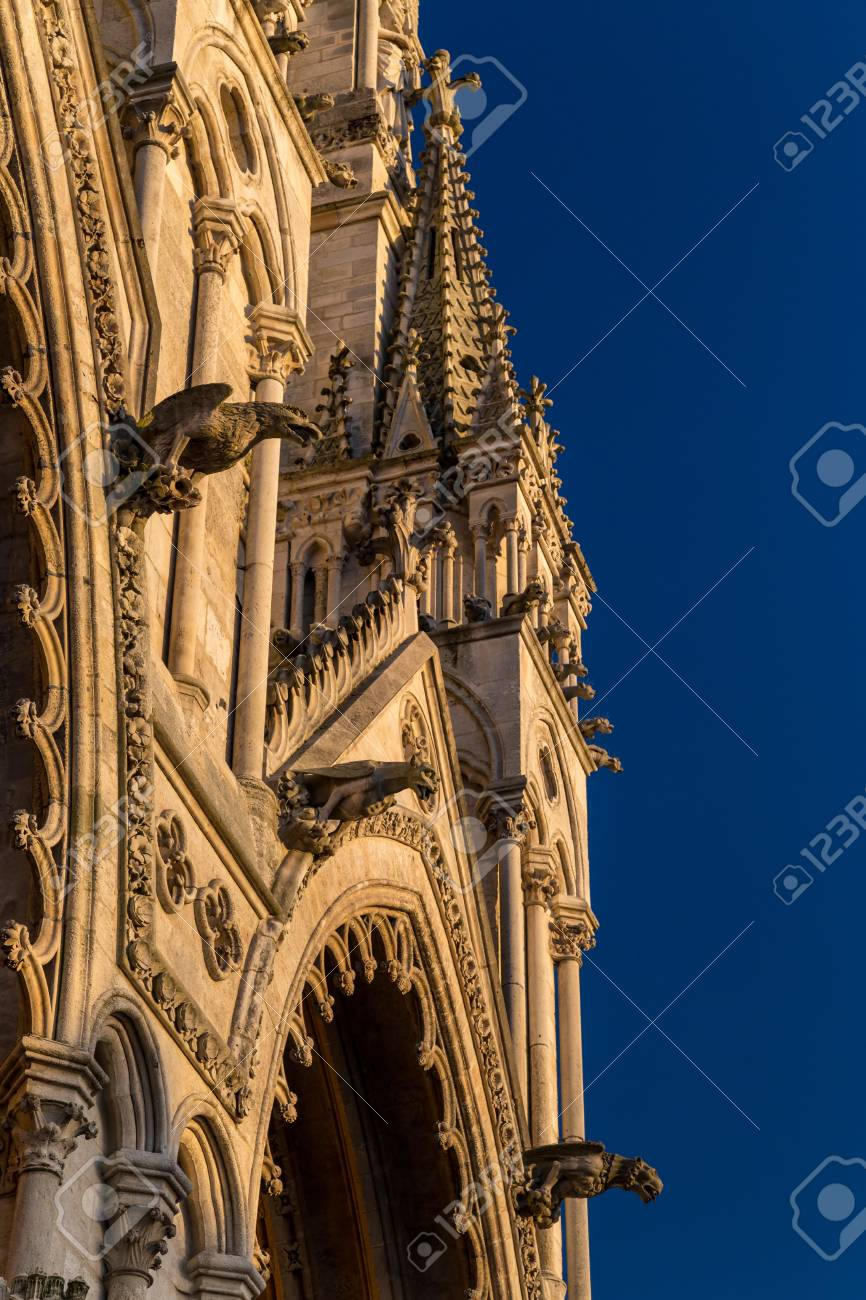 Architectural details of a gothic cathedral - 115409715