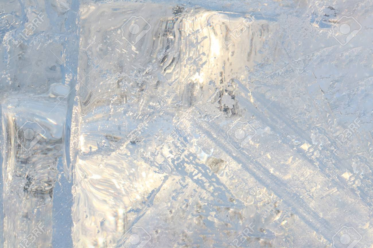 Ice background. Backlit with the sun - 115410097