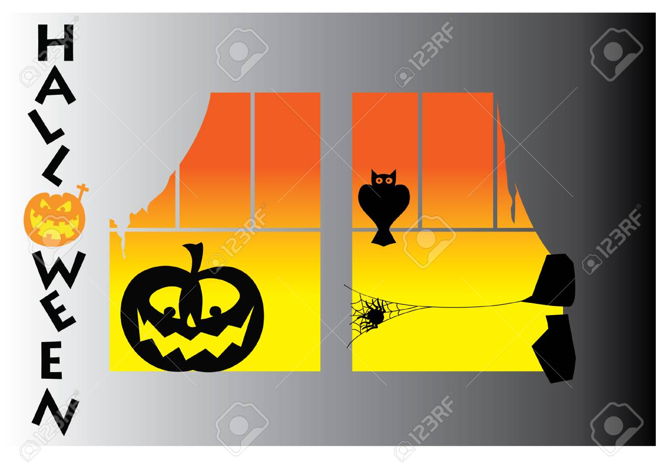 spiders silhouette Stock Vector - 23257454