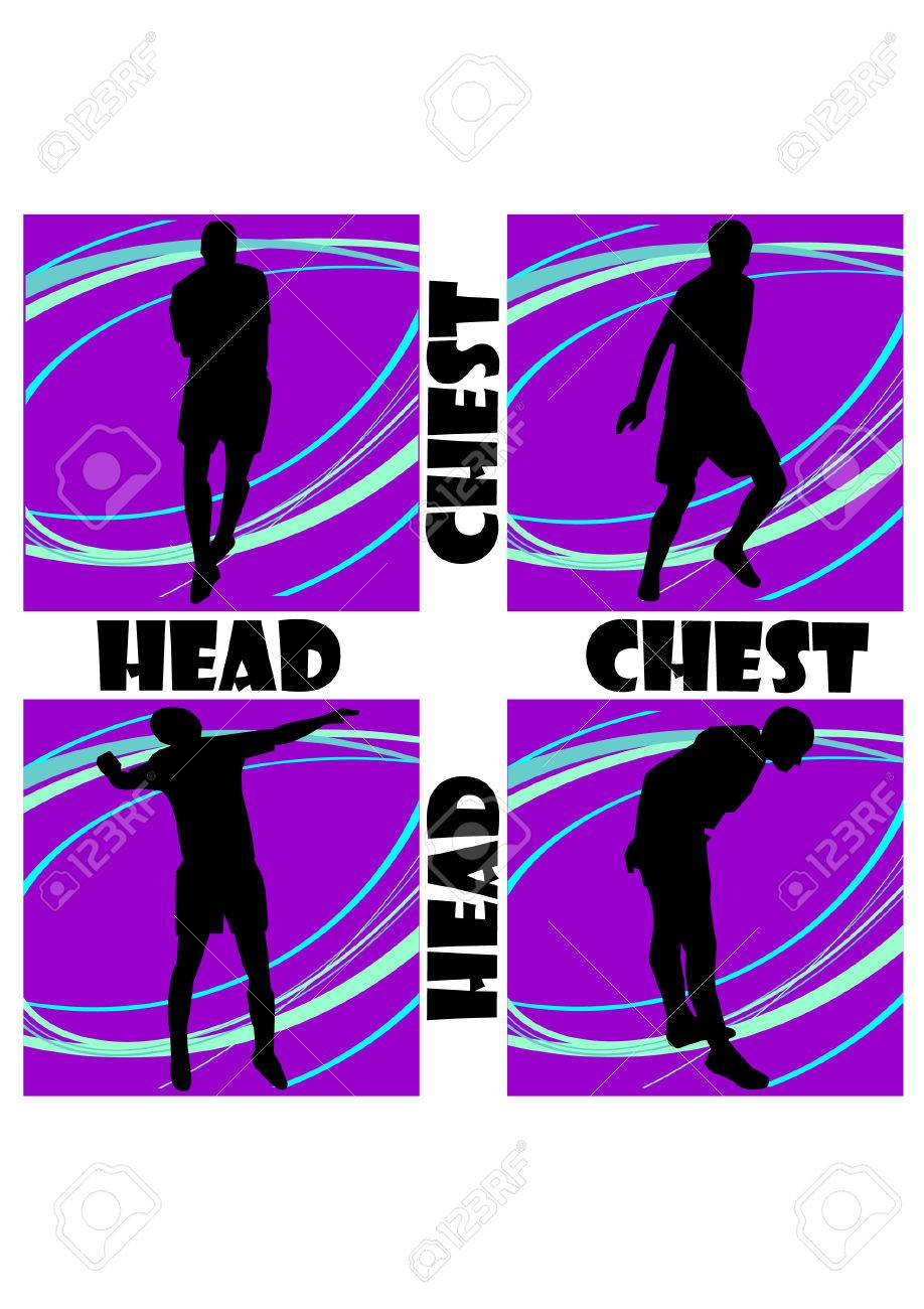 head and chest of football silhouette Stock Vector - 24107771