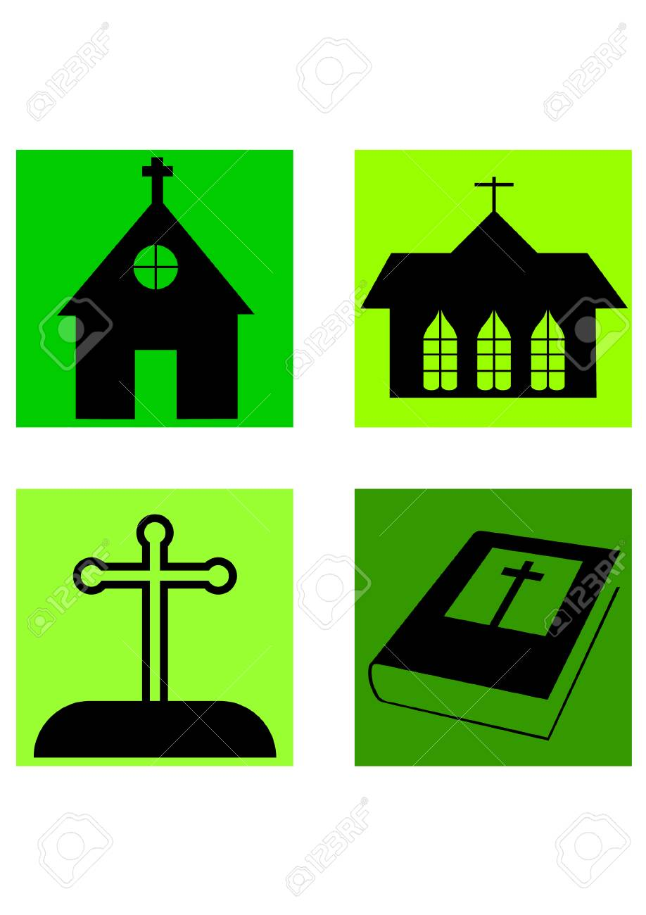 silhouette of christianity Stock Vector - 24661885