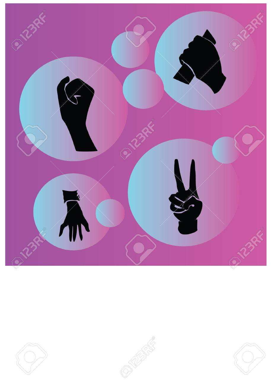 silhouette of finger movements Stock Vector - 24818944