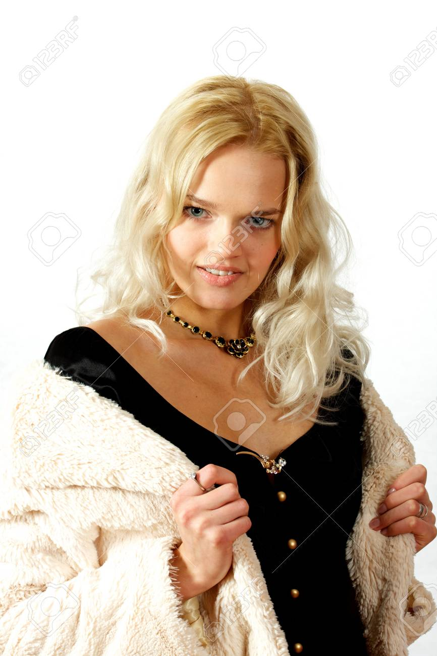 Young, beautiful, harmonous, blonde sexual Stock Photo - 17065649