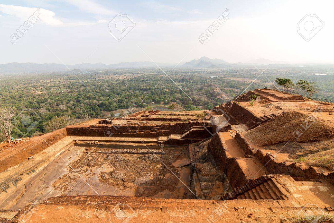 Ruins on top of Sigiriya Lion Stock Photo - 15932280