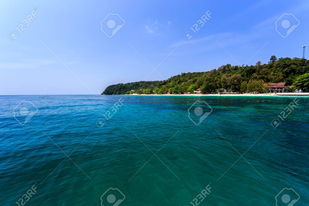 tropical beach at koh maiton island phuket thailand stock photo