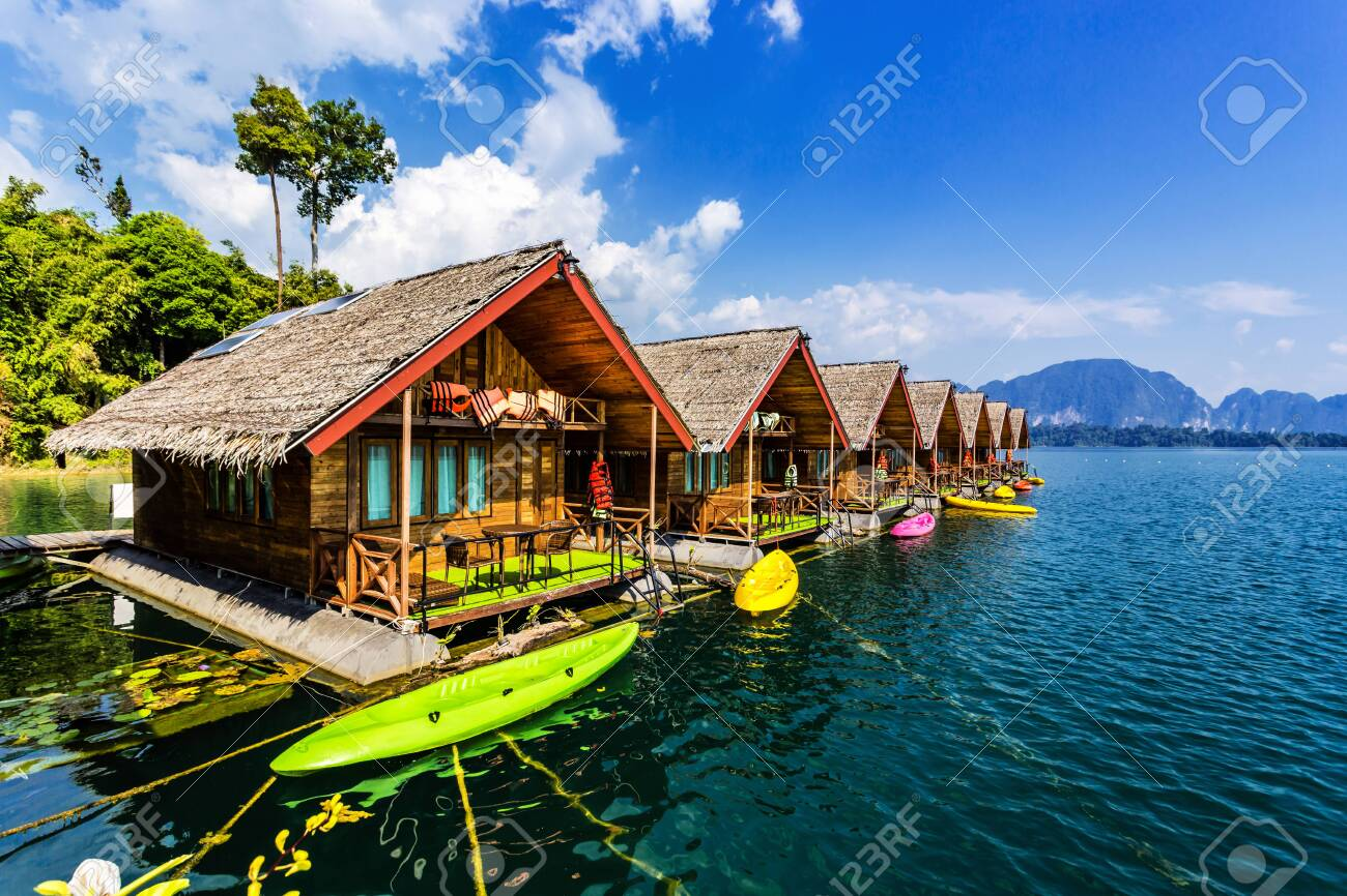 Floating Bungalows With Kayaks At Khao Sok National Park Cheow