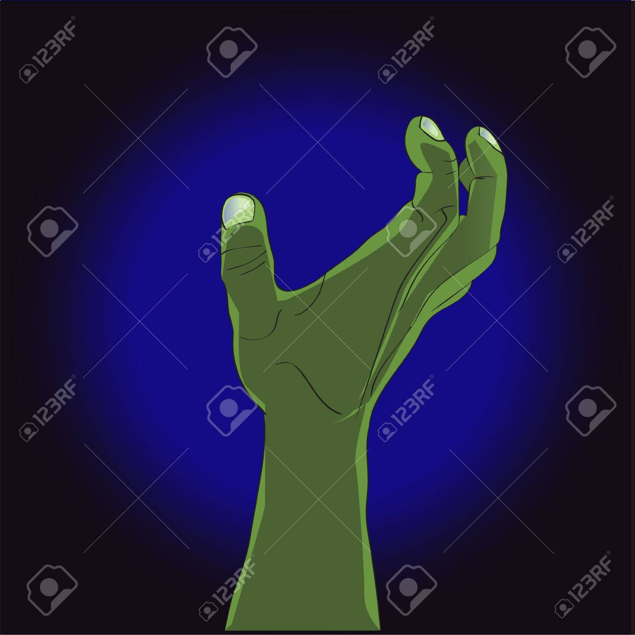 Las Manos De Zombies De Dibujos Animados. Vector Ilustración De ...