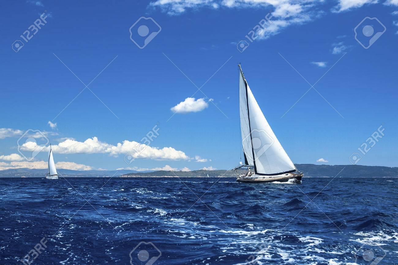 Sailing ship yachts. Sailing regatta. Luxury yachts. - 35070690