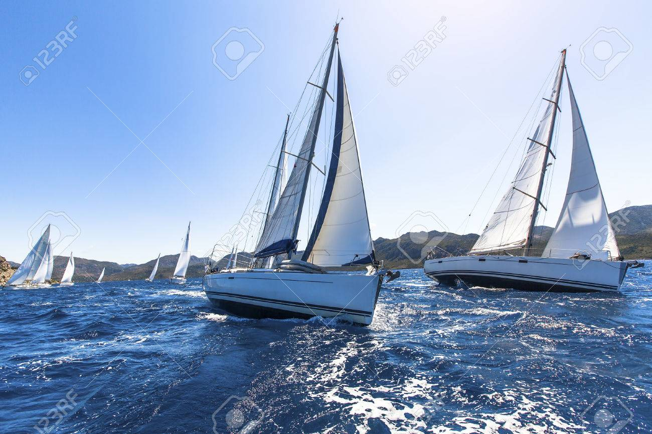 Image result for a sailboat in waves