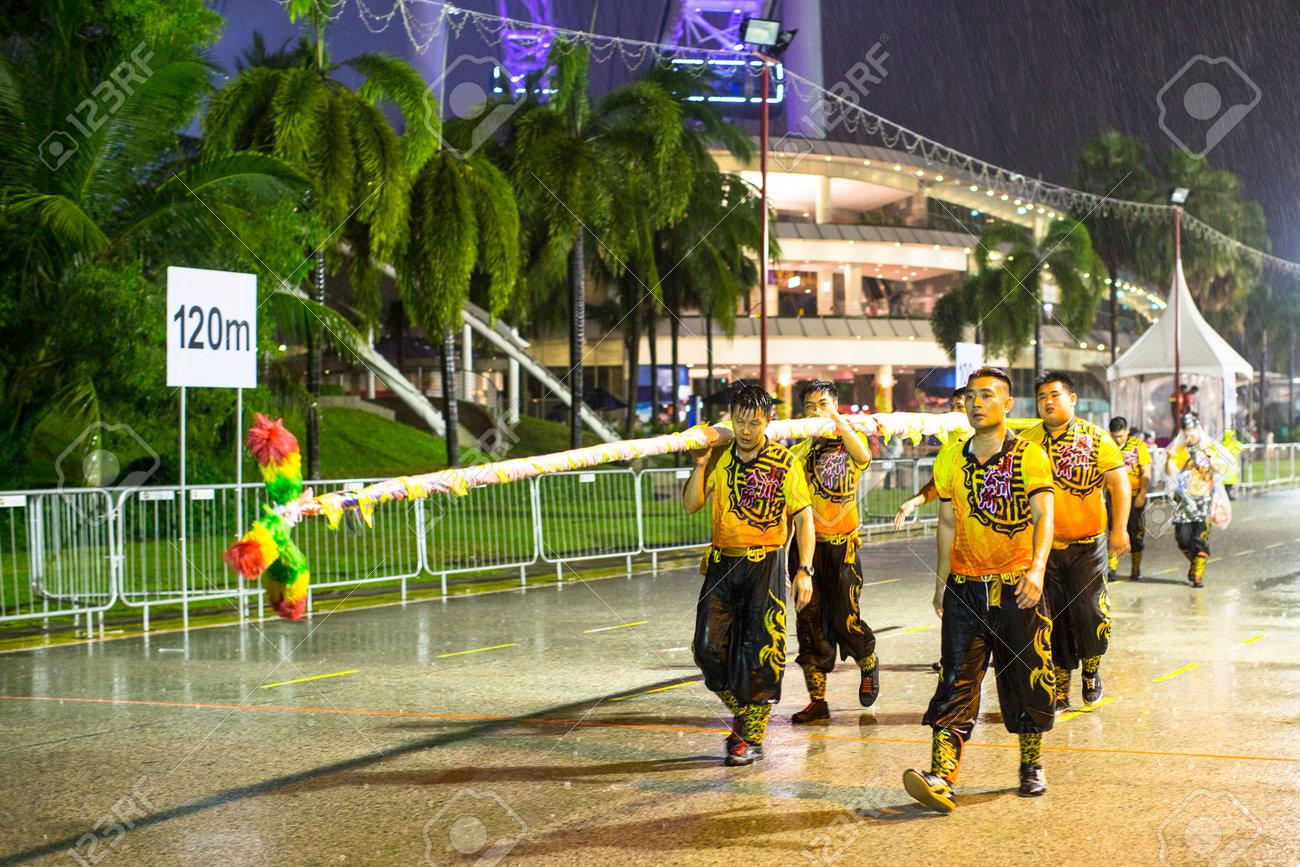 Singapur Ene 19 De 2016 Los Participantes Identificados Chingay